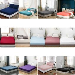 Comfort Fitted Sheets Bed Sheet Bedding Cover Deep Pocket Mi