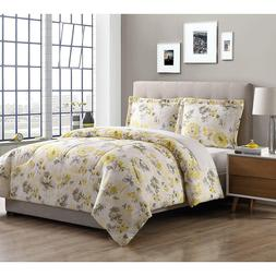 comforter microfiber lovely floral pattern yellow soft