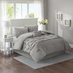 Comforter Set Full Queen Bed In A Bag Tufted Pattern Bedding