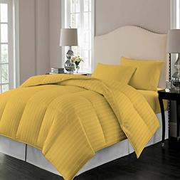 Comforter Striped 100% Egyptian Cotton Hypoallergenic 300 Th