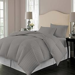 Comforter Striped 100% Egyptian Cotton Hypoallergenic 1200 T