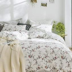 Cottage Country Style 3 Piece Duvet Cover Set Multicolored R