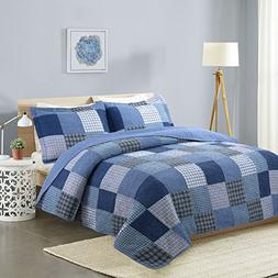 vivinna Cotton Quilt queen size Sets-Summer Bedspread - Cove