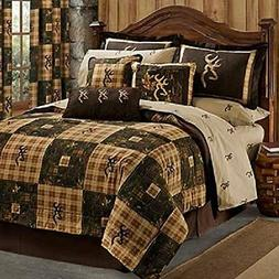 Browning Country 4 Pc Queen Comforter Bedding Set - Hunting