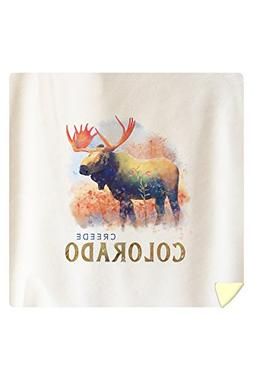 Lantern Press Creede, Colorado - Moose - Watercolor