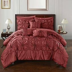 Chic Home CS3589-AN 10 Piece Springfield Floral Pinch Pleat