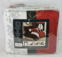 Chic Home 24 Piece Danielle Complete Pintuck Embroidery Colo