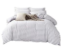 Delbou Tree Duvet Cover Set,Striped Duvet Cover,Contrast 2 T