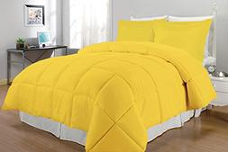 South Bay Down Alternative Comforter Set, Queen, Yellow