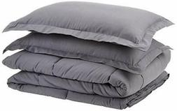 AmazonBasics Down-Alternative Comforter Set with Shams -