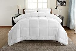 !! BEST SELLER !! Hotel Collection Queen Comforter- White,Du