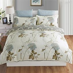 Duvet Cover Queen, Style Bedding Cotton Pintuck Duvet Cover