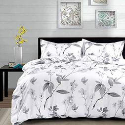 NANKO Duvet Cover Queen Set, 3 Piece - 90 x 90 Luxury Hypoal