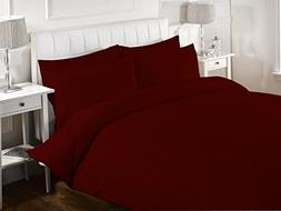 Duvet Cover Striped With Zipper Closure 600 Thread Count 100