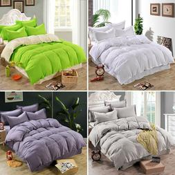 Duvet Quilt Cover Bedding Set Single Double Queen King Size