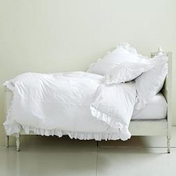 egyptian cotton corner frilled duvet