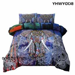 Elephant Mandala Multi-color Comforter Set & Pillowcase Bedd