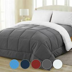 Equinox All-Season Charcoal Grey/White Quilted Comforter - G