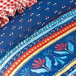 The Pioneer Woman Full Queen Country Girl Stripe Bed Quilt,