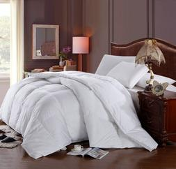 Full/Queen Royal Hotel Solid Goose Down Comforter Baffle Box