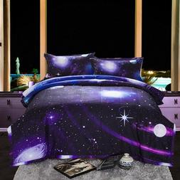 Galaxy 3D Printing Never Fade Quilt Outer Space Comforter Se