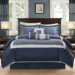 genevieve comforter set navy queen