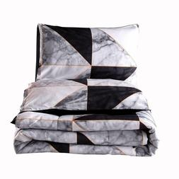 Geometry Marble Comforter Set Queen Lightweight Quilted Marb