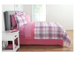 Girl's Pink Full Size Comforter Set Bed in a Bag Sheets Plai