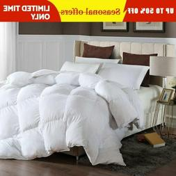 goose down alternative double filled luxury comforter