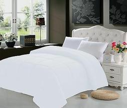 GOOSE DOWN ALTERNATIVE DOUBLE FILLED WHITE COMFORTER KING QU