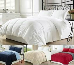 Goose Down Alternative Luxurious Reversible Comforter Full Q