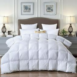 Goose Down Feather Comforter Queen,600Fill Power,Soybean Fib