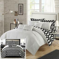 Chic Home 10 Piece Holland Diamond Quilted Embroidered With