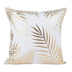GOVOW Home Decor Gifts Gold Foil Printing Pillow Case Sofa W