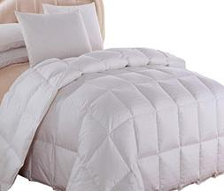 Royal Hotel Queen Size Dobby Checkered White goose Down-Comf