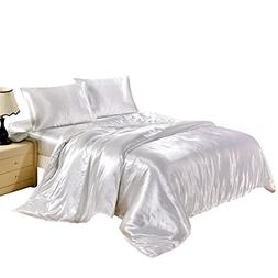 Hotel Quality Solid White Duvet Cover Set Queen/Full Size Si