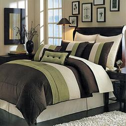 Royal Hotel Hudson Sage, Brown, and Cream Queen Size Luxury