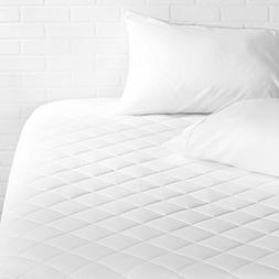 "AmazonBasics Hypoallergenic Quilted Mattress Pad, 18"" Deep,"