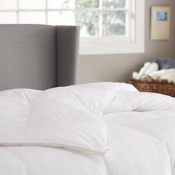 Pinzon Hypoallergenic White Duck Down Comforter, 100% Cotton