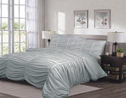 Sweet Home Collection  3 Piece Isabella Comforter Reversible