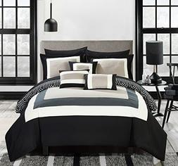Chic Home Jake 10 Piece Comforter Set Reversible Hotel Colle
