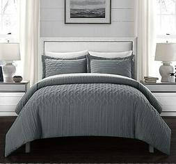 Chic Home Jazmine Embossed Embroidered Quilted Comforter Set