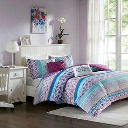 Intelligent Design Joni Comforter Set Full/Queen Size - Purp
