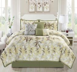 KAMA 7-piece Luxury Embroidery Bamboo Forest Bedding Comfort