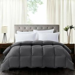 King Size Goose Down Alternative Comforter White Blanket Lux