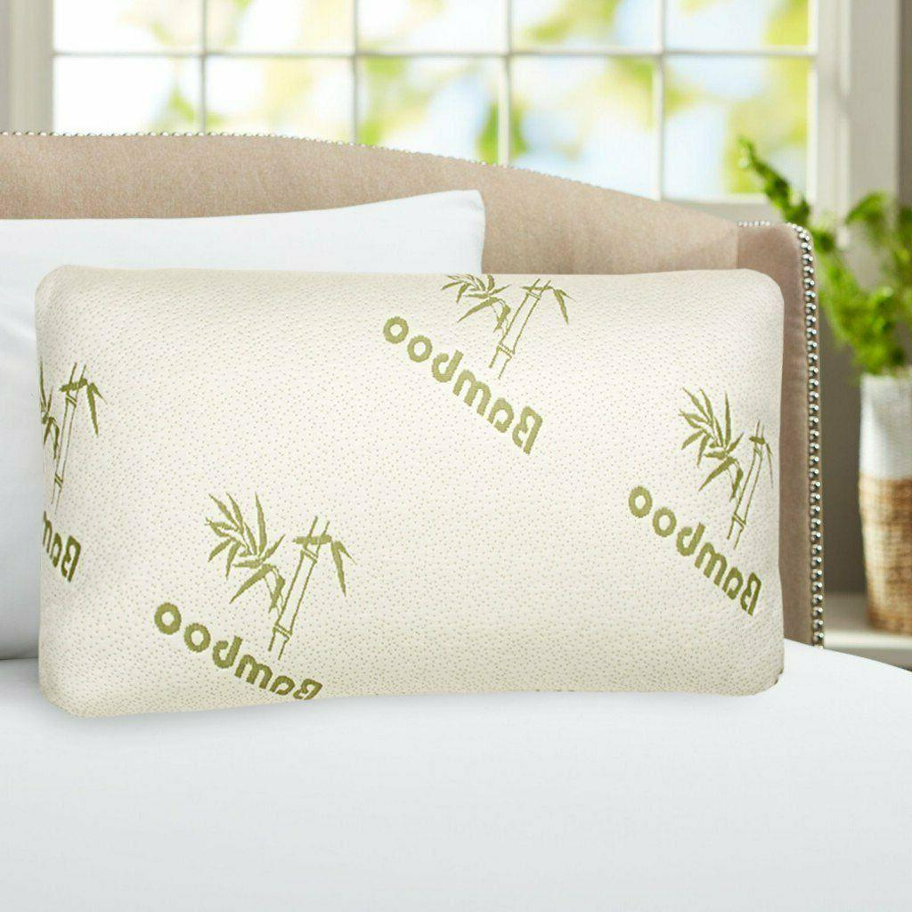 1 or Bamboo Comfort Memory Pillows - Hypoallergenic Cover