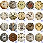 "15"" Large Vintage Wooden Wall Clock Shabby Chic Rustic Home"
