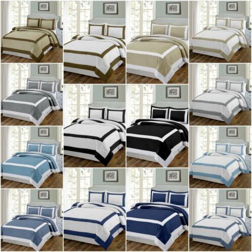 3 piece hotel style square framed bedding