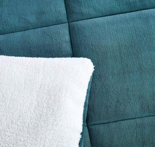 Chezmoi Collection Teal Cuddly Comforter