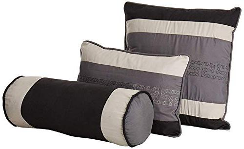 Chezmoi Embroidery Comforter Set/Bed-in-a-Bag, California King,
